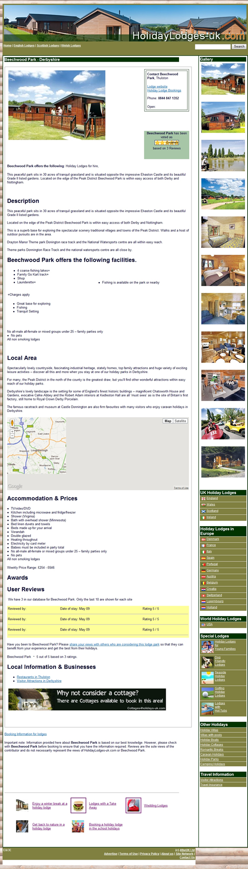 Example Lodge Feature Page