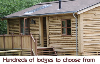hundreds of holiday lodges and cabins to choose